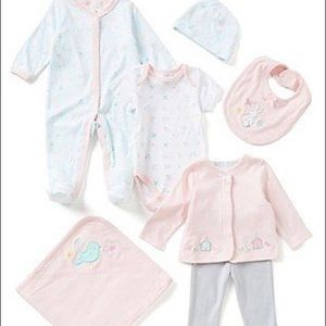 NWT Starting Out Layette 7 Piece Set Bunny Bird 6M